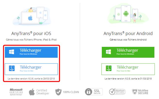 Comment télécharger AnyTrans pour iOS
