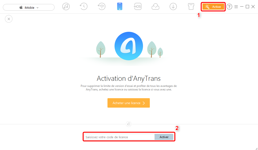 Comment activer AnyTrans pour iOS