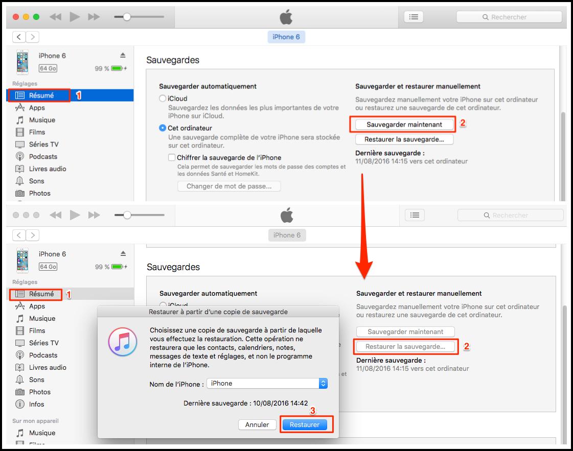 Transférer des données de l'ancien iPhone à l'iPhone 7 via Photos