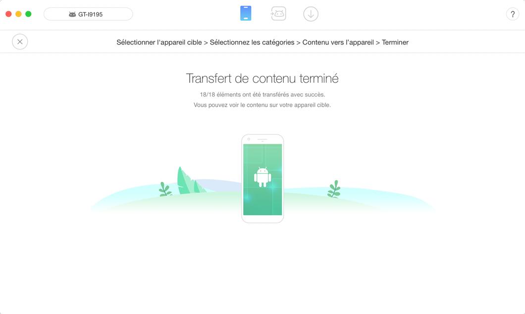 Moyen de transférer les données Samsung vers HUAWEI - étape 3