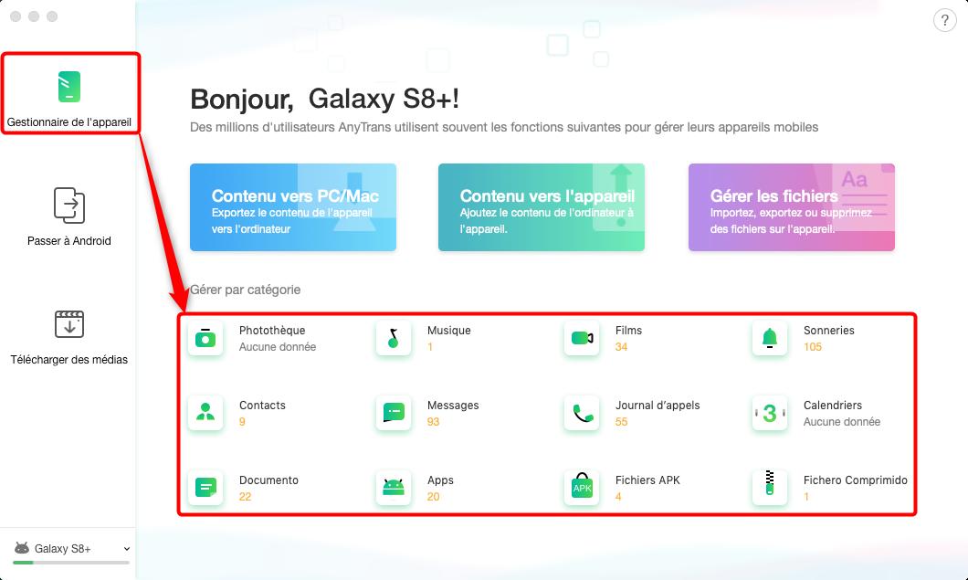 Transférer les données sélectionnées Samsung sur HUAWEI