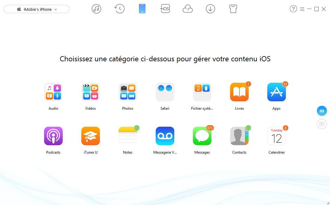 Comment transférer des fichiers de l'iPhone vers PC – étape 1
