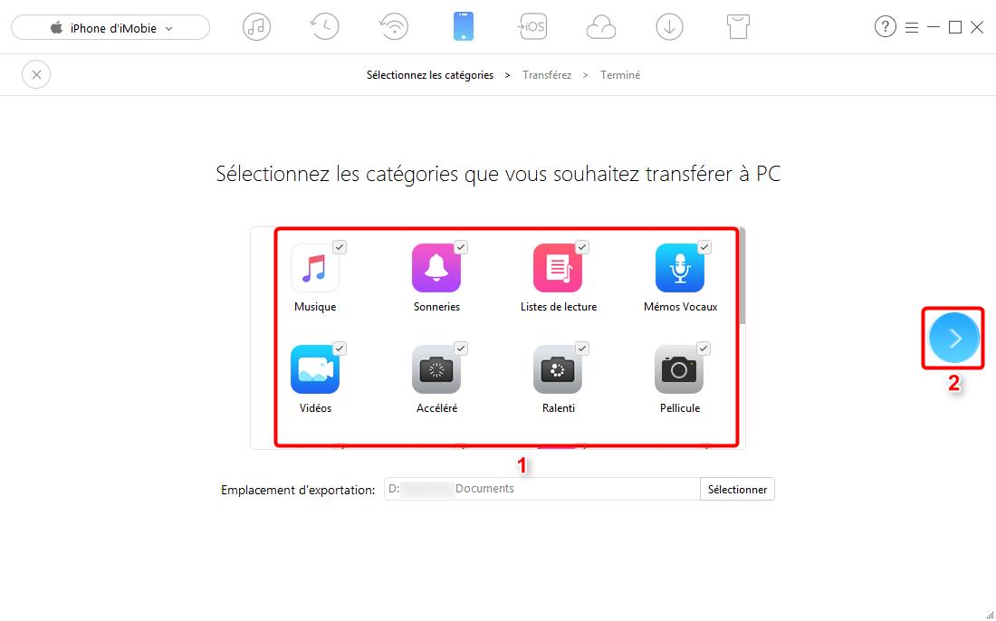 Comment copier des fichiers de l'iPhone vers PC – étape 2