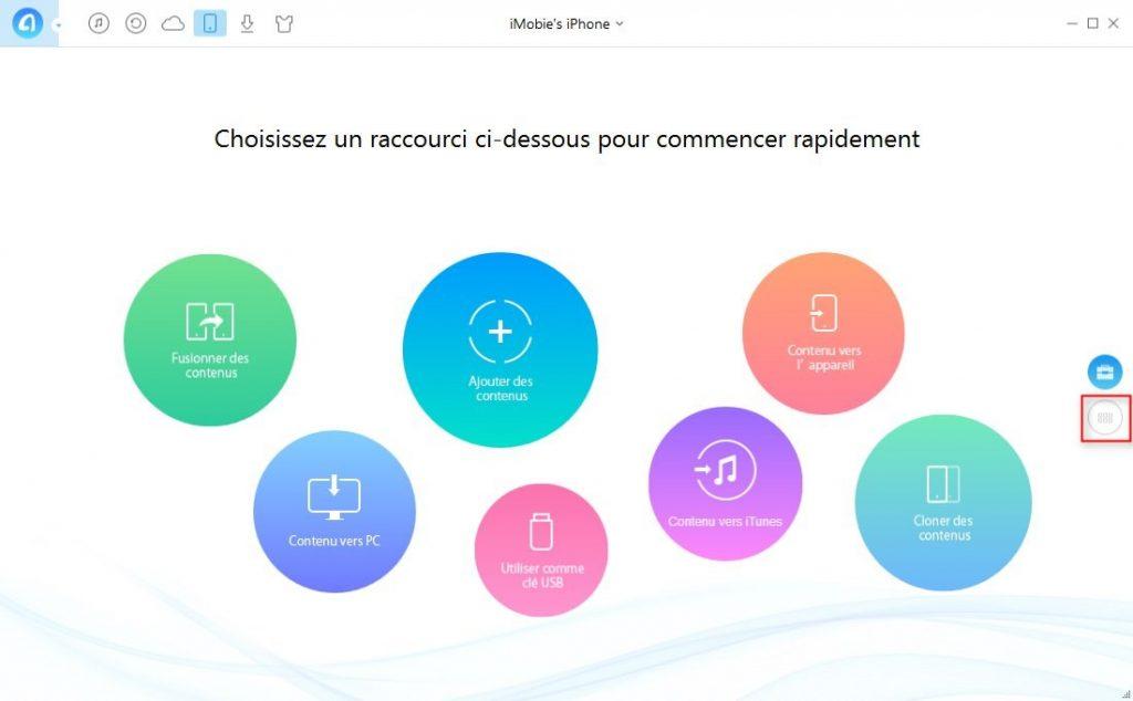 Façon de transférer iTunes U iPhone vers iPhone – étape 1