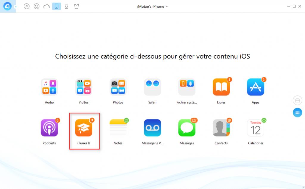 Comment transférer iTunes U iPhone vers iPhone – étape 2