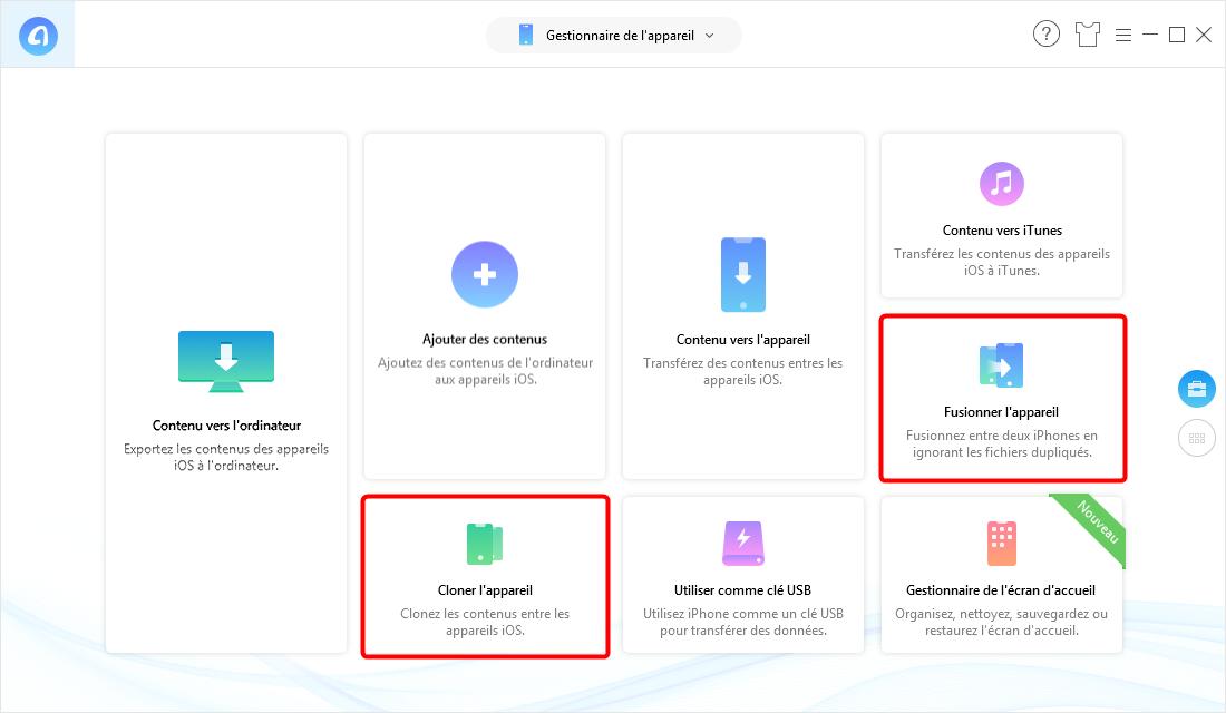 Transférer des données vers nouvel iPhone directement via AnyTrans pour iOS - étape 2
