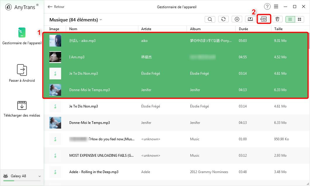 Sélectionnez les chansons dont vous avez besoin - 3
