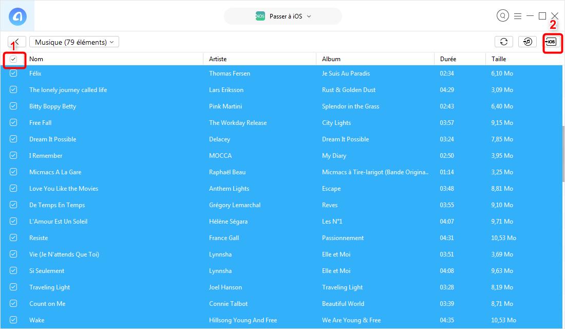 Comment copy de la musique Android sur iPod - étape 3