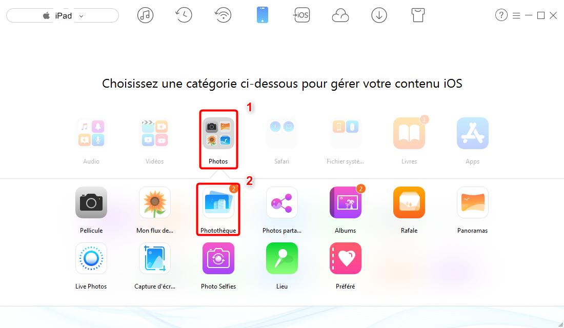 Transfert des photos iPad vers Windows 8 – étape 2