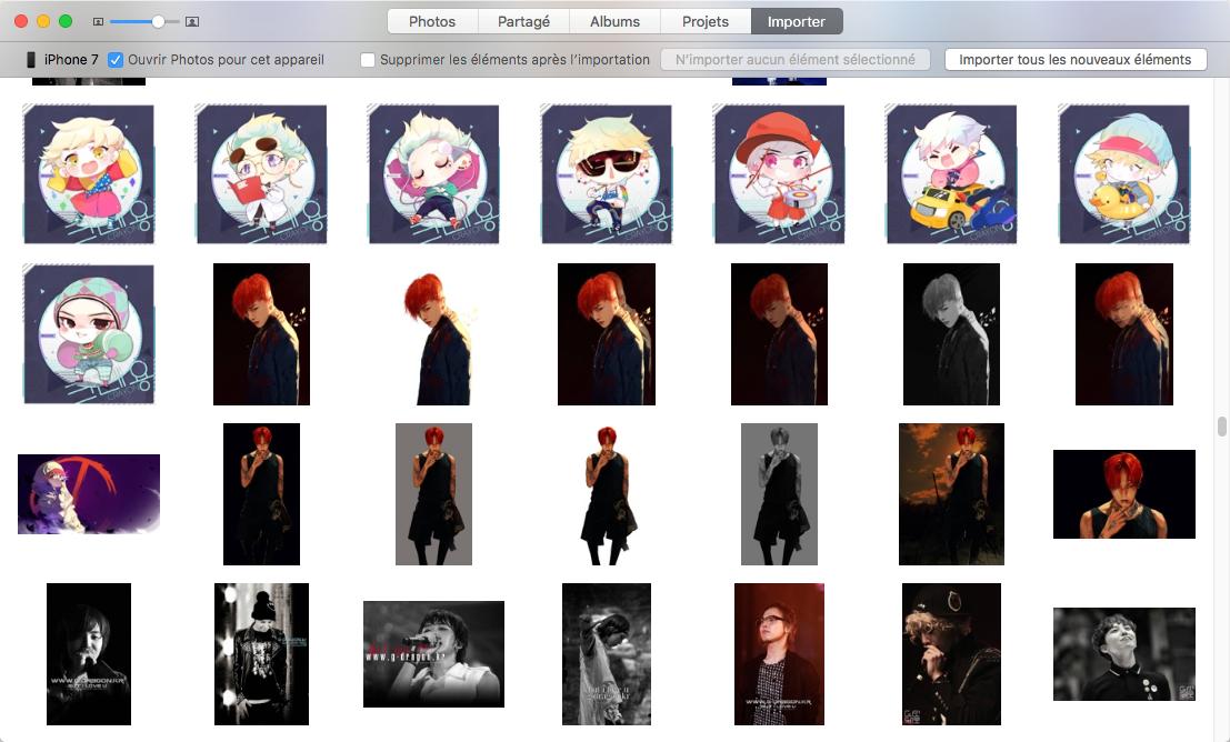 Transfert Photos de l'iPhone 7 à Mac avec photos