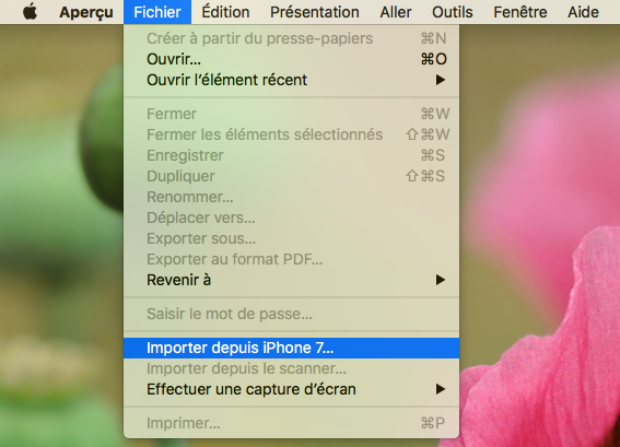 Importer les photos vers Mac avec Aperçu – étape 2