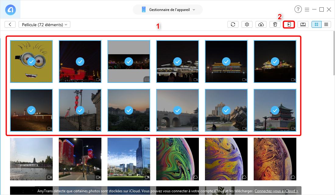 Envoyer les photos d'iPhone vers l'iPhone X/XS (Max)/XR par catégorie - Étape 3