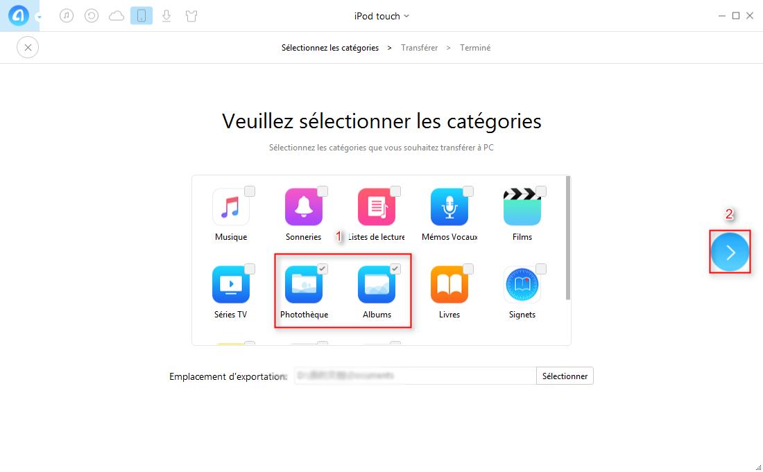 Comment transférer des photos iPod vers PC – étape 2