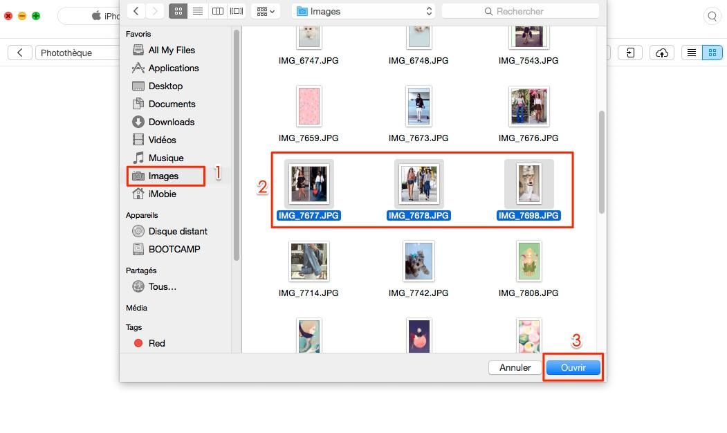 Transfert de photos Mac à l'iPhone 7 via AnyTrans - étape 3
