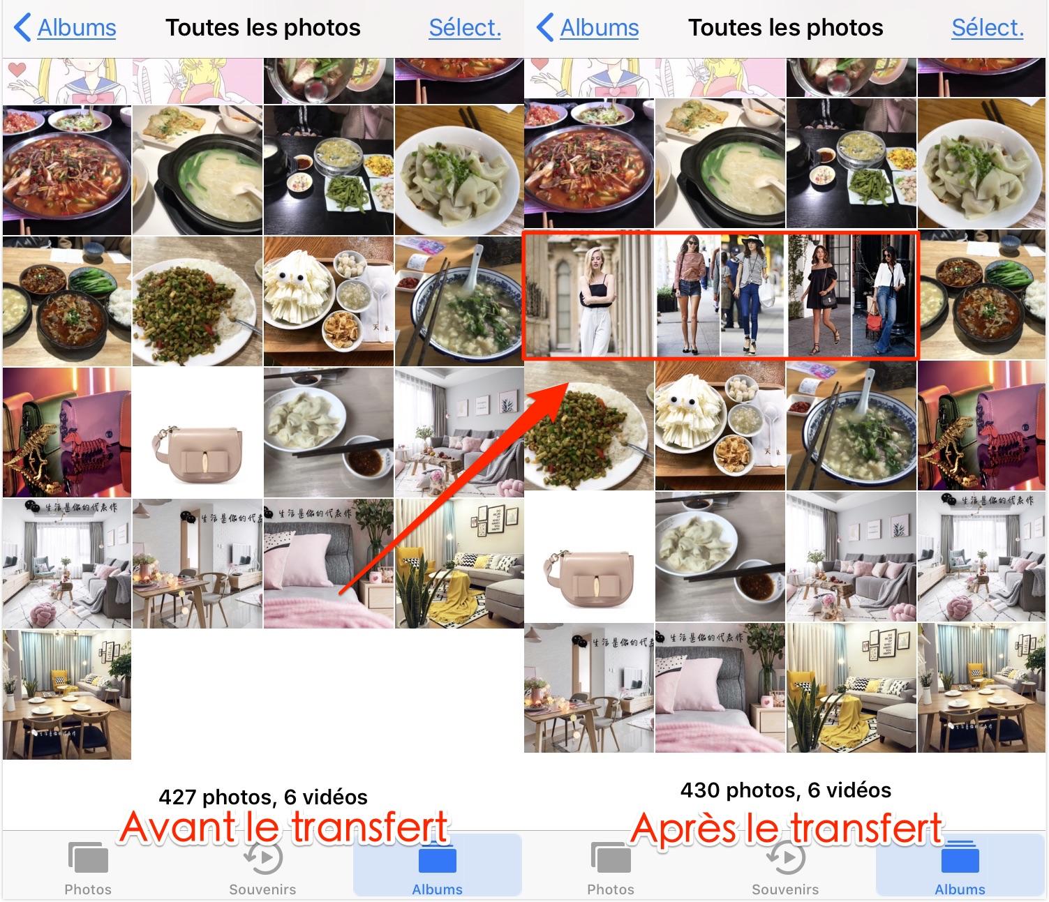 Transfert de photos Mac à l'iPhone 7 via AnyTrans - étape 4