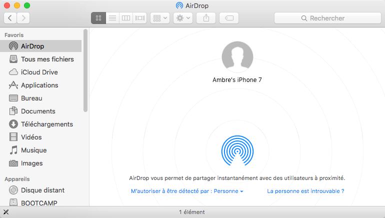 Transférer des photos de Mac à l'iPhone 7 avec AirDrop