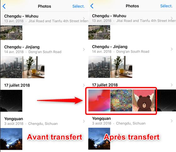 Comment mettre les photos sur iPhone