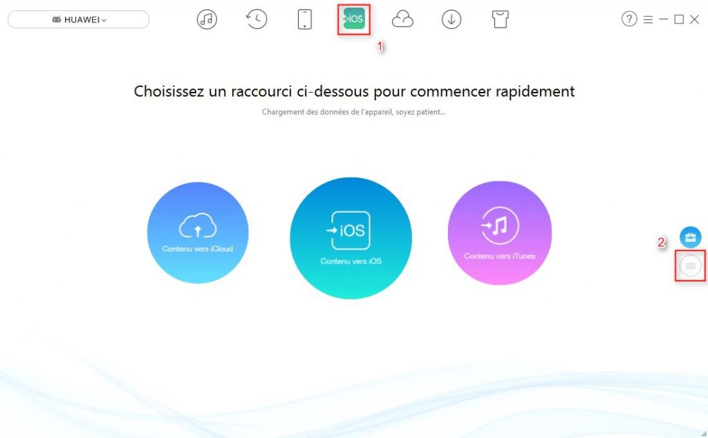 Comment transférer SMS HUAWEI vers iPhone – étape 1