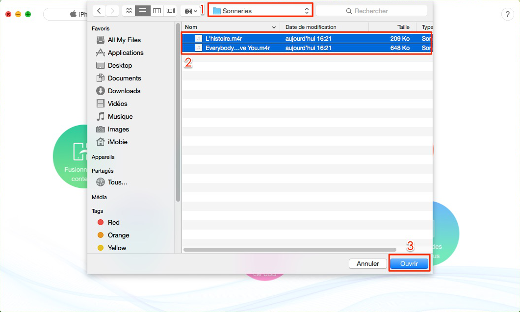 Transférer des sonneries d'iTunes vers iPhone 7 sans aucune perte - étape 2