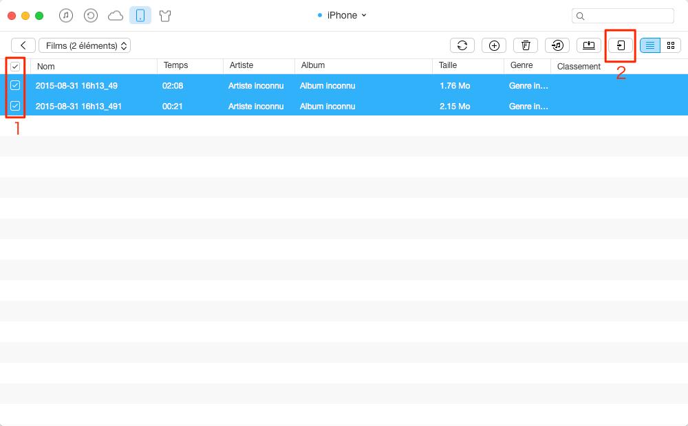 Transférer des vidéos de l'iPhone à l'iPad avec AnyTrans pour iOS - étape 3