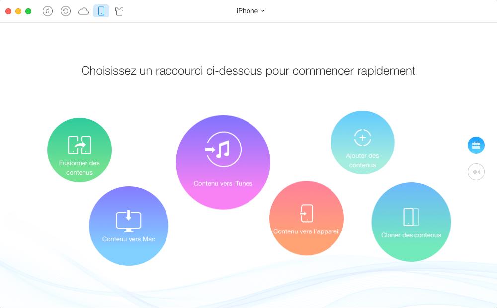 ansférer les vidéos de l'iPhone à iTunes avec AnyTrans - étape 1