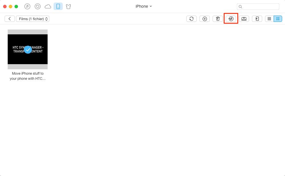 Transfert de vidéos de l'iPhone à iTunes avec AnyTrans - étape 3