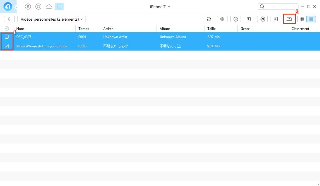 Comment transférer une vidéo iPhone vers PC avec AnyTrans pour iOS - étape 3