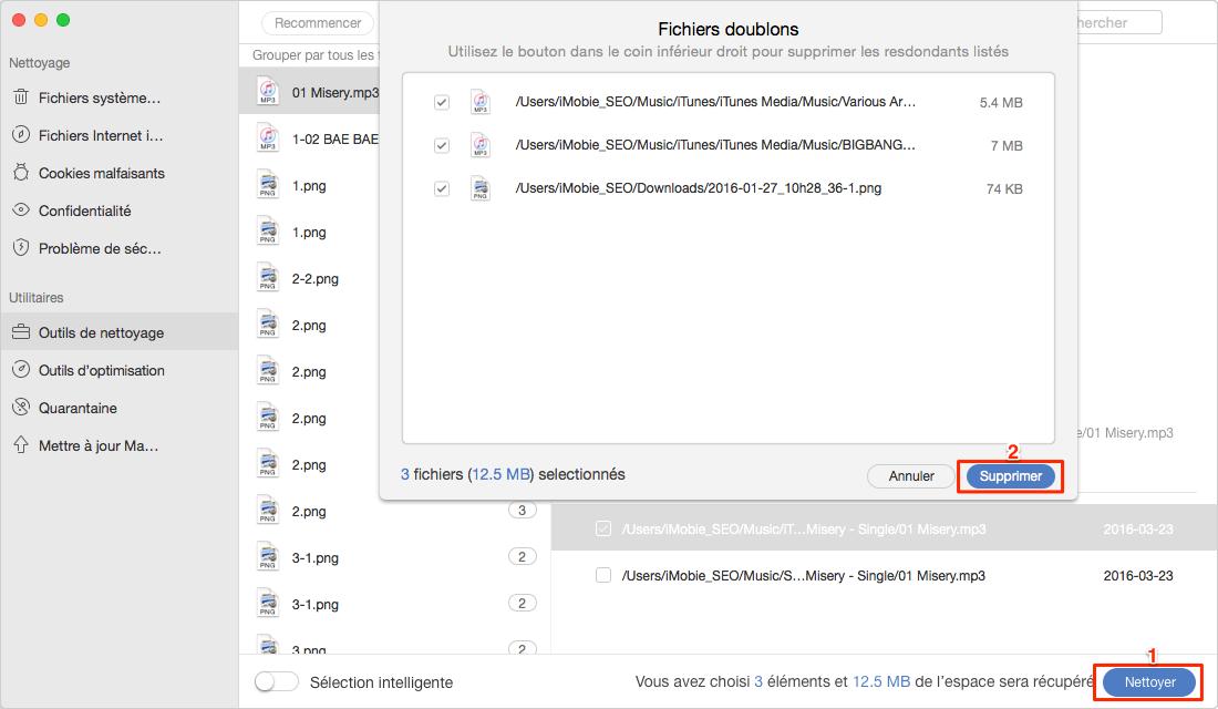 Comment nettoyer les fichiers doublons avec MacClean – étape 4