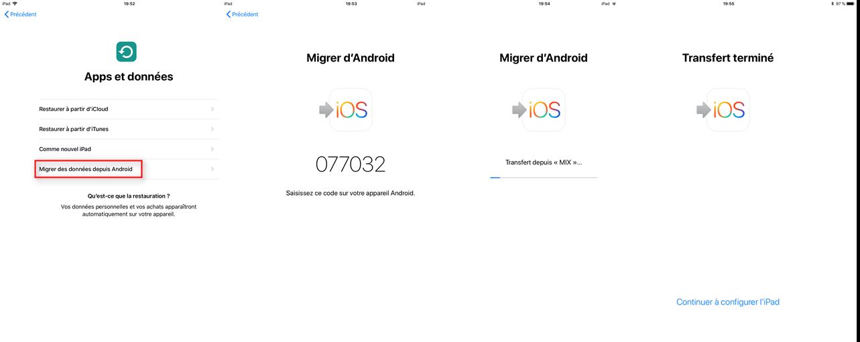 Comment utiliser Migrer vers iOS sur votre iPhone
