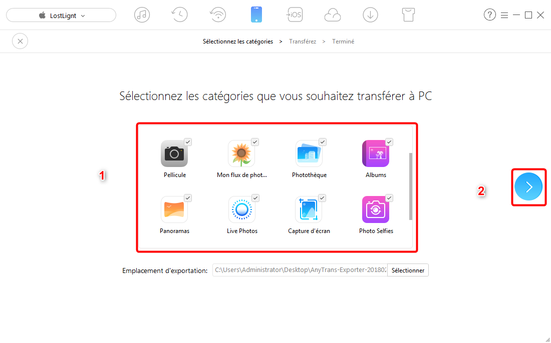 Comment exporter vos photos iPhone sur pc un 1 clic