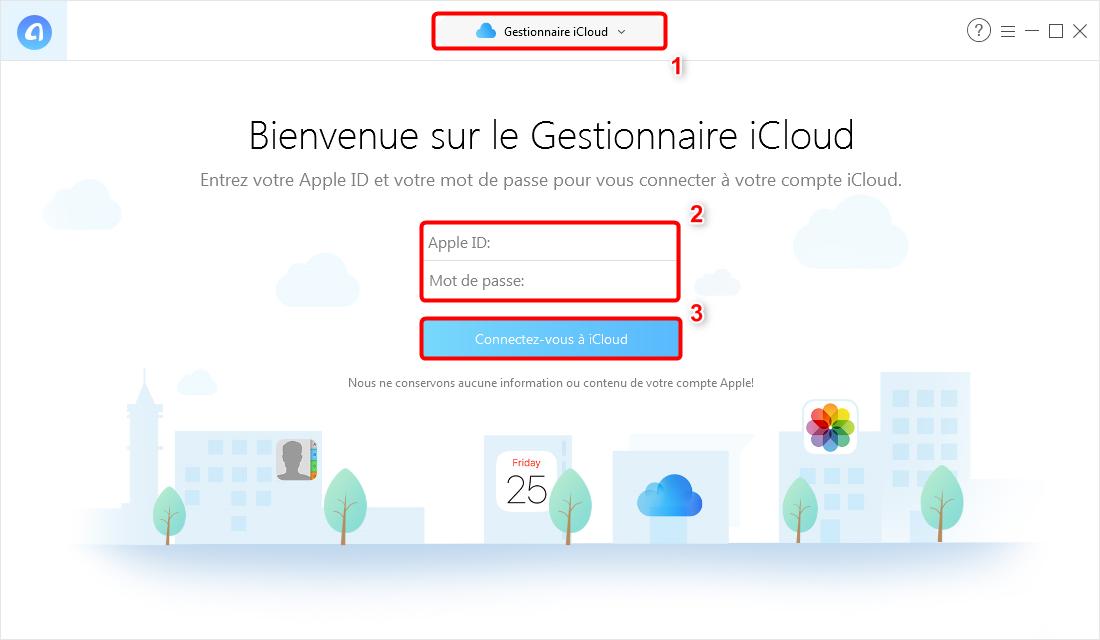 Comment voir des photos sur iCloud avec AnyTrans pour iOS – étape 1