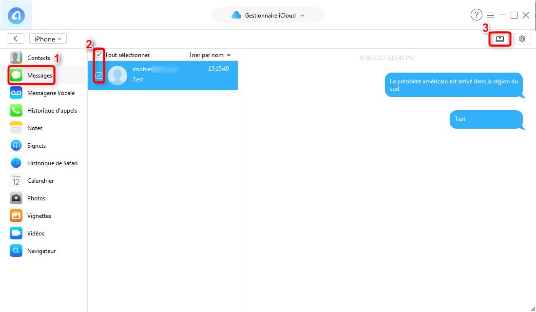 comment lire ses sms sur icloud