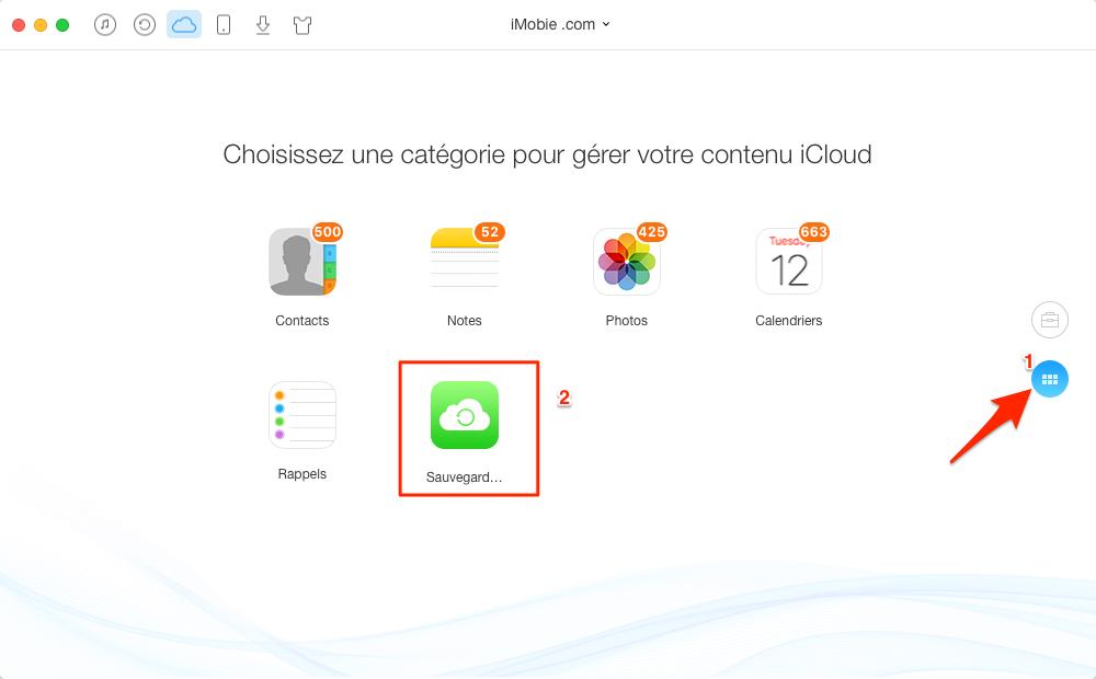 Comment voir et télécharger des SMS sur iCloud – étape 3