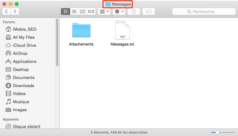 Transférer les iMessages iPhone vers ordinateur