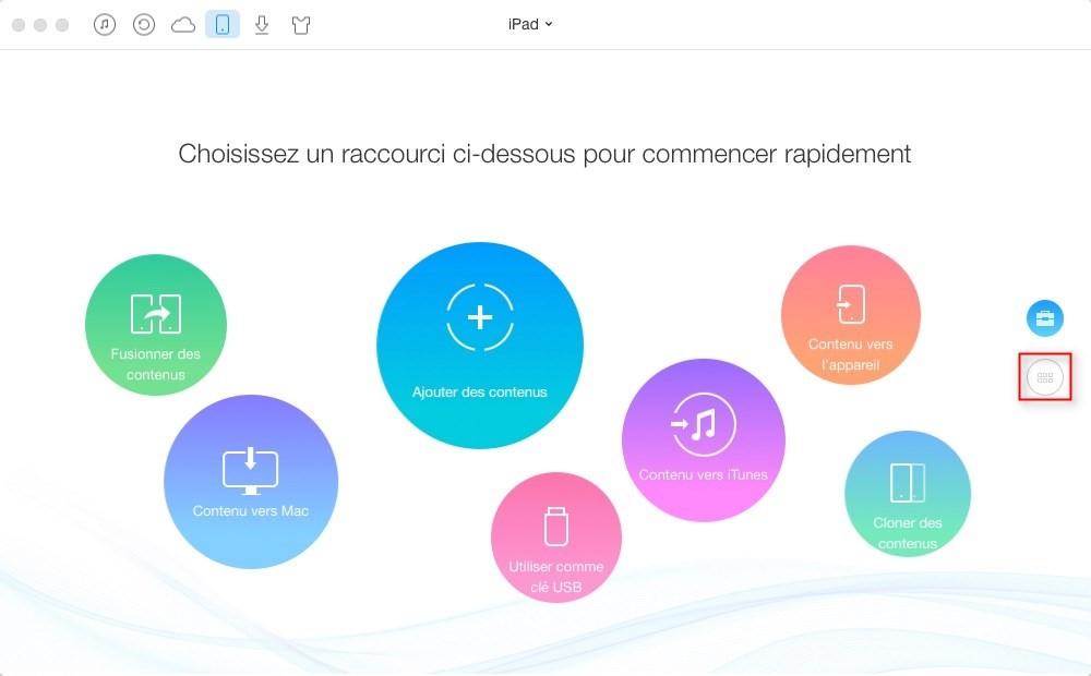 Comment transférer les vidéos iPad vers Mac avec AnyTrans – étape 1
