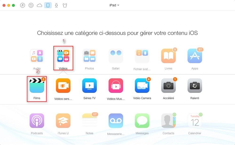 Comment transférer les vidéos iPad vers Mac facilement – étape 2