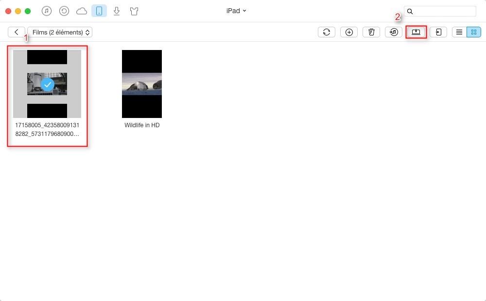 Comment transférer les vidéos iPad vers Mac directement – étape 3