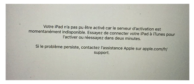 Problèmes et solutions d'iOS 9.3 - Activation impossible sur iPhone