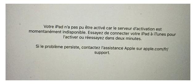 Problèmes et solutions d'iOS 9.3 - Activation impossible sur iPhone
