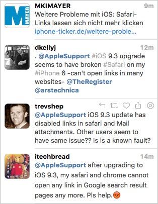 Problèmes et solutions d'iOS 9.3 - Impossible d'ouvrir le lien depuis Safari