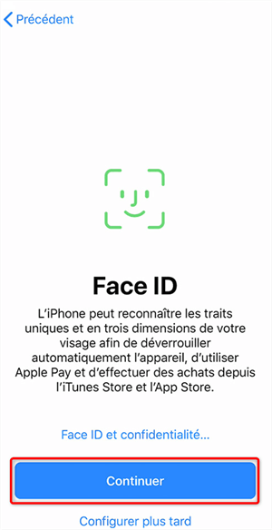 Configuration de Touch ID
