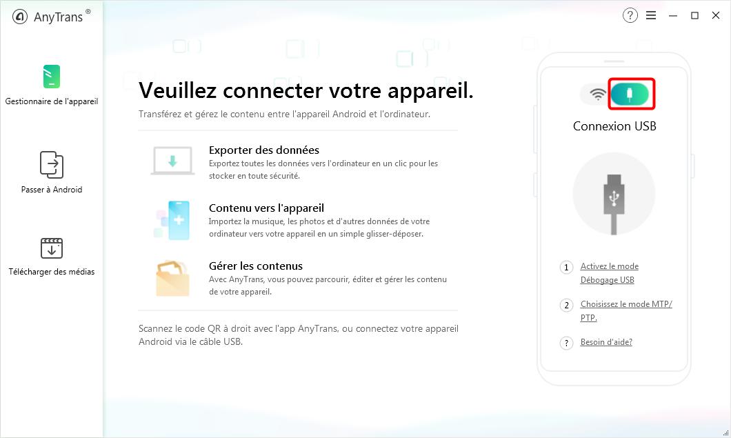 Connecter votre Samsung au PC via un câble USB