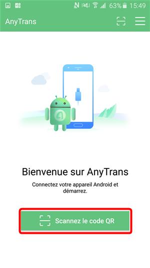 Scannez le code QR avec l' AnyDroid depuis votre Samsung - 2