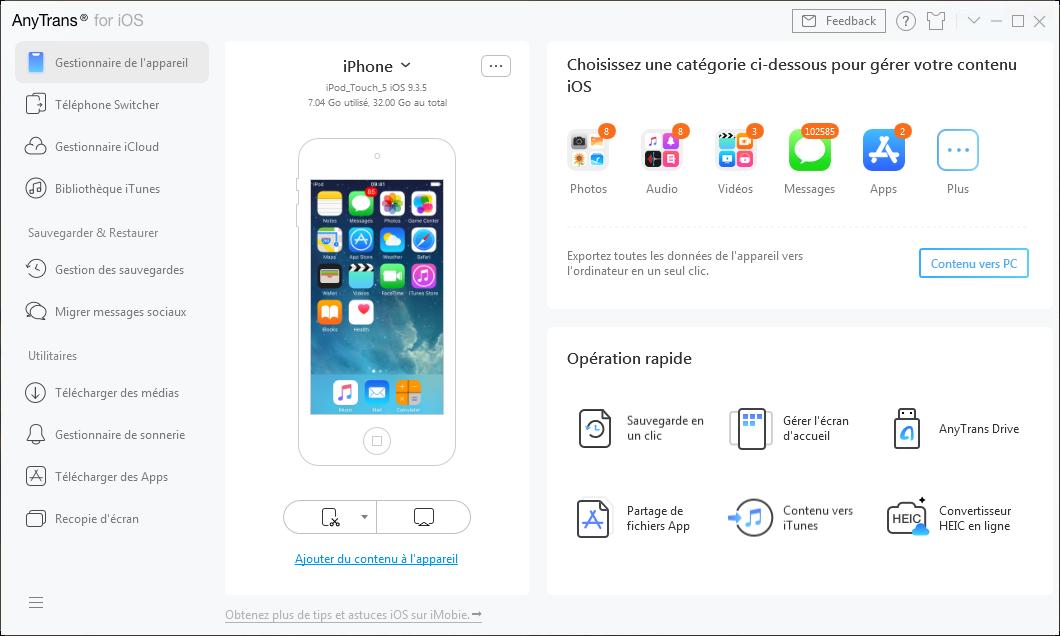 Connecter votre l'appareil iOS