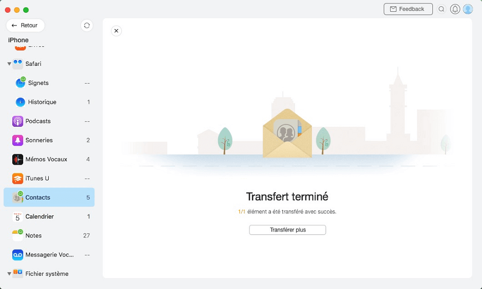 Transfert terminé