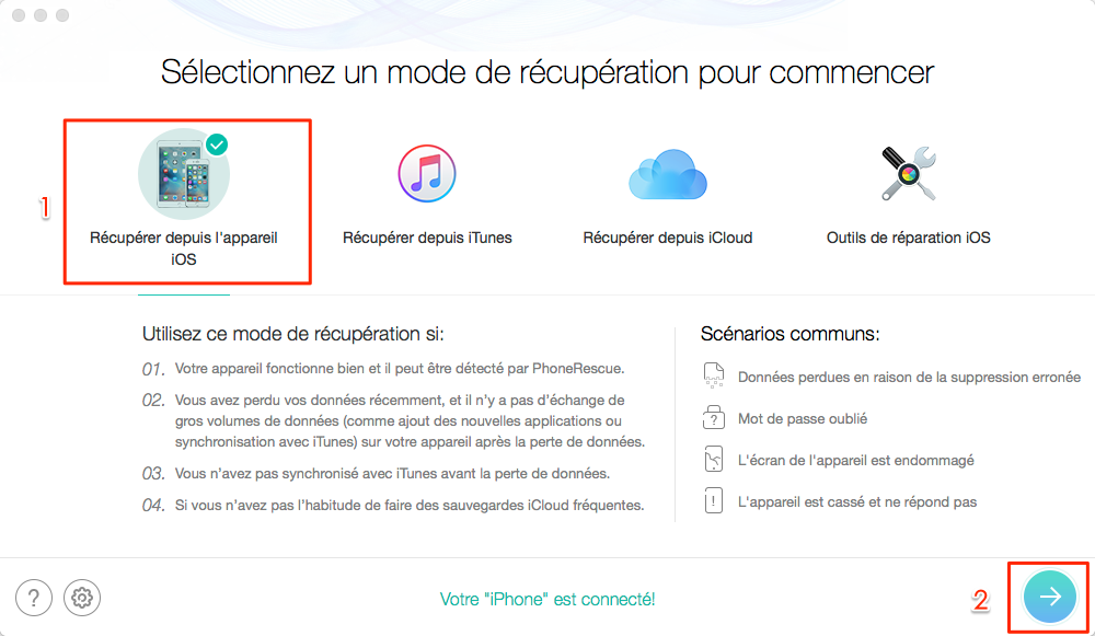 Comment récupérer les contacts iPhone disparus après mise à jour iOS 11.3/11.2/11.1