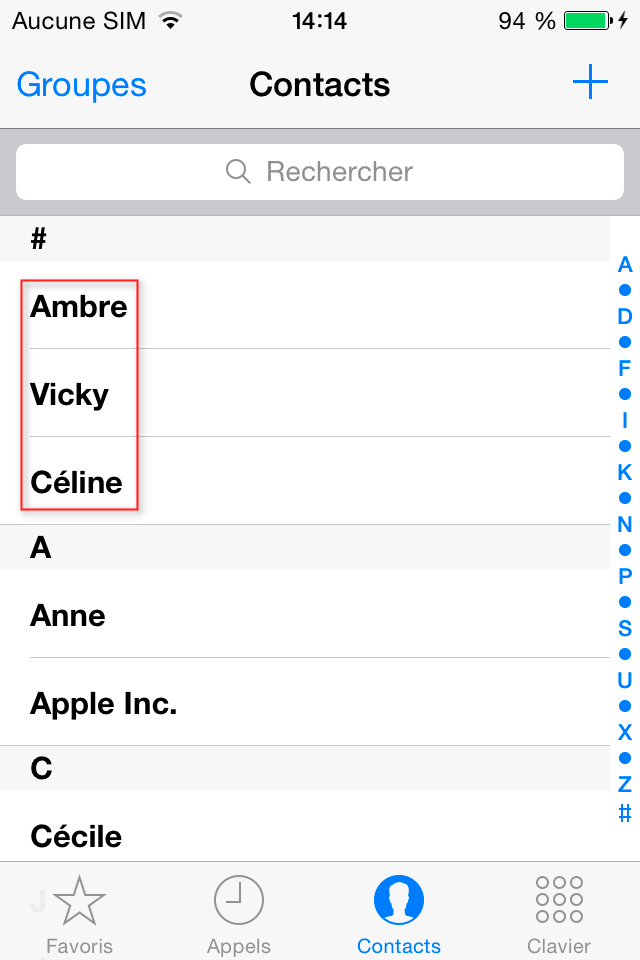 Retrouver contacts effacés iPhone sous iOS 11.3/11.2/11.1