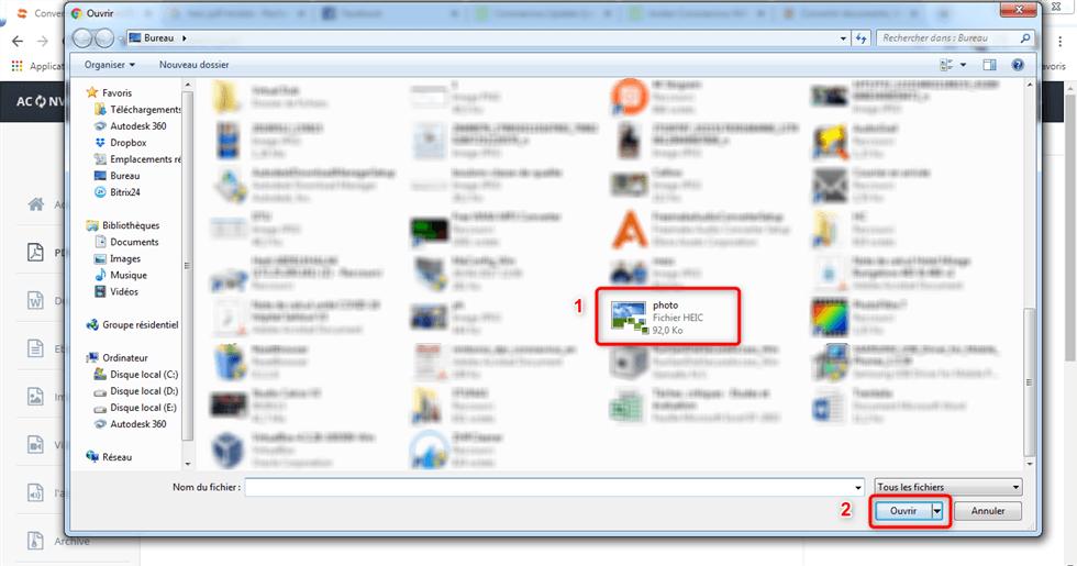 Convertir fichier HEIC en PDF