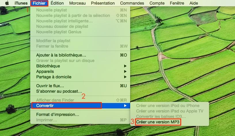 Transformez les chansons M4A en MP3 avec iTunes sur Mac