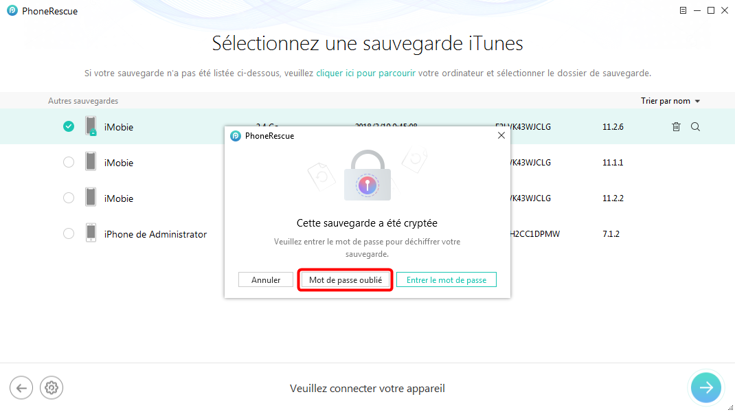 Comment cracker le mot de passe de sauvegarde iPhone